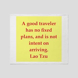 Lao Tzu Throw Blanket
