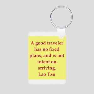 Lao Tzu Aluminum Photo Keychain