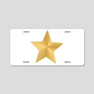 Gold Star Aluminum License Plate