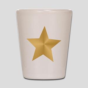 Gold Star Shot Glass