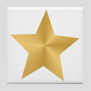 Gold Star Tile Coaster
