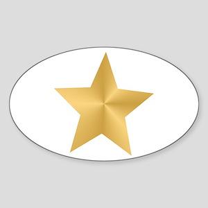 Gold Star Sticker (Oval)