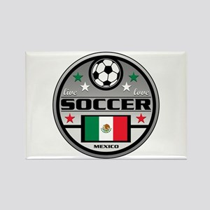Live Love Soccer Mexico Rectangle Magnet