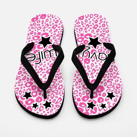 Navy Wife Flip Flops