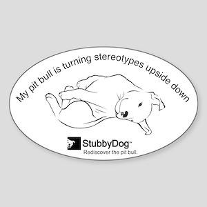 StubbyDog Upside Down Sticker (Oval)