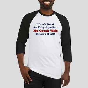 Greek Wife Knows It All Baseball Jersey