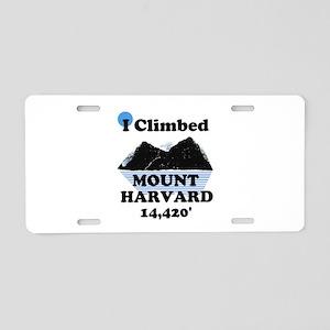 MOUNT HARVARD 14,420' Aluminum License Plate