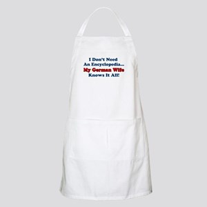 German Wife Knows It All Apron