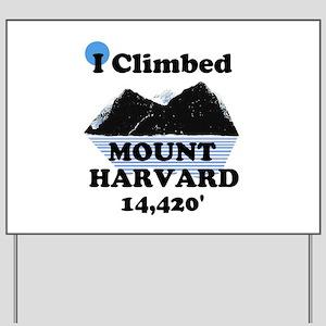 MOUNT HARVARD 14,420' Yard Sign