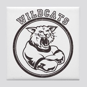 Wilcats team Mascot Graphic Tile Coaster
