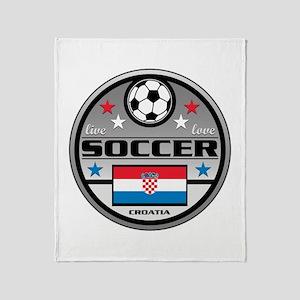 Live Love Soccer Croatia Throw Blanket