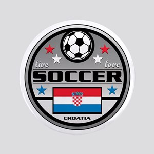 """Live Love Soccer Croatia 3.5"""" Button"""