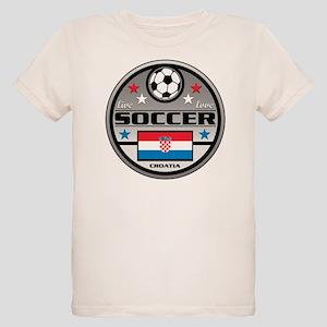 Live Love Soccer Croatia Organic Kids T-Shirt