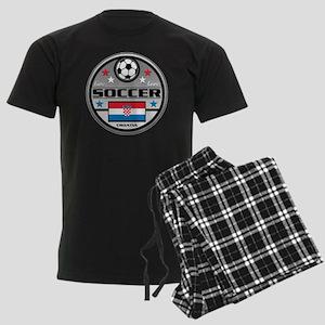 Live Love Soccer Croatia Men's Dark Pajamas