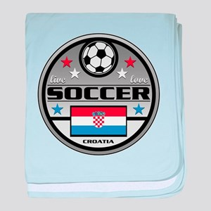 Live Love Soccer Croatia baby blanket