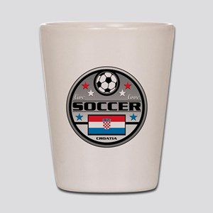 Live Love Soccer Croatia Shot Glass