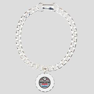 Live Love Soccer Croatia Charm Bracelet, One Charm