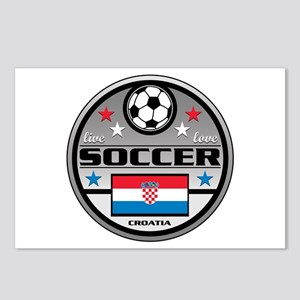 Live Love Soccer Croatia Postcards (Package of 8)