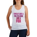 Sweat like a pig... Women's Tank Top