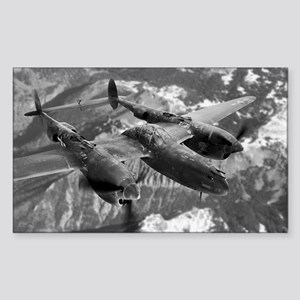 P38 Lightning Composite Rectangle Sticker