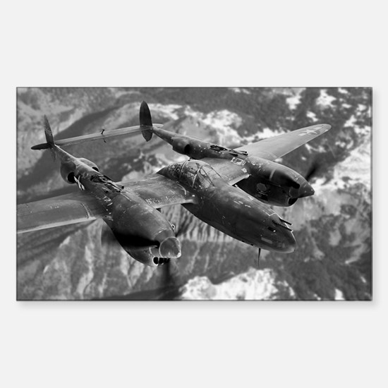 P38 Lightning Composite Rectangle Decal