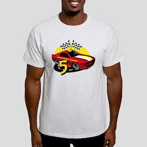 Race Car 5th Birthday Light T-Shirt