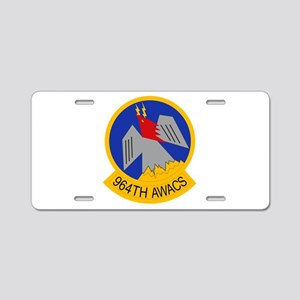 964th AWACS Aluminum License Plate