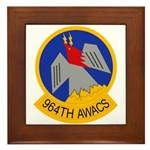 964th AWACS Framed Tile
