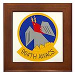 964th AWACS Framed Tile