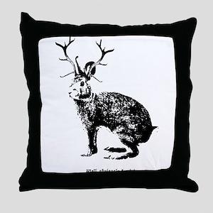 Jackalopes exist Throw Pillow