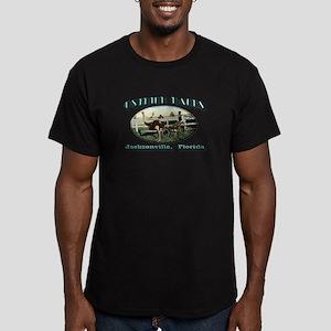 Ostrich Races Men's Fitted T-Shirt (dark)