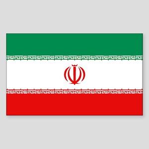 Iran Flag Rectangle Sticker