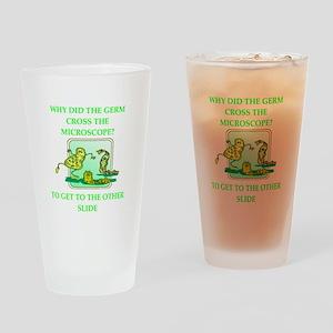 biology joke Drinking Glass