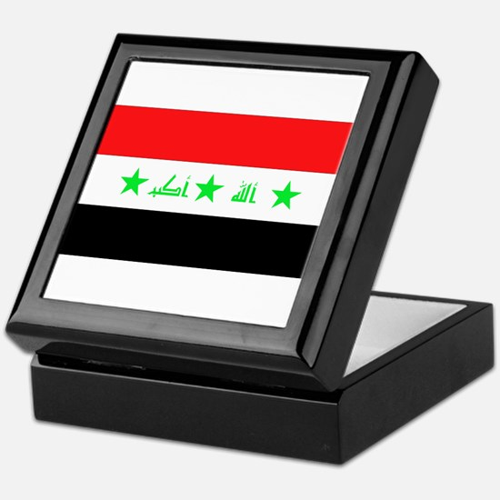 Iraqi Flag Keepsake Box