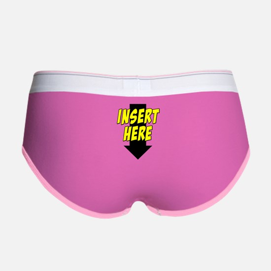 Insert Here Down Arrow Front Women's Boy Brief