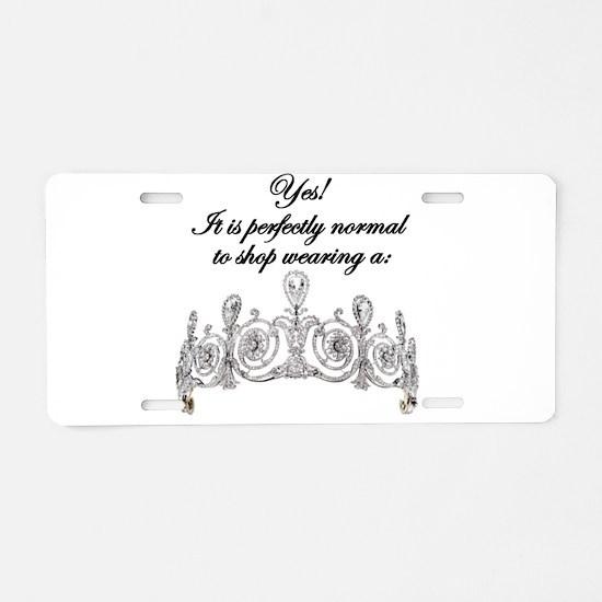 Royality Shopper Aluminum License Plate