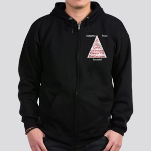 Alabama Food Pyramid Zip Hoodie (dark)