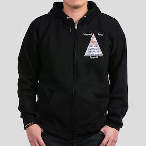 Missouri Food Pyramid Zip Hoodie (dark)
