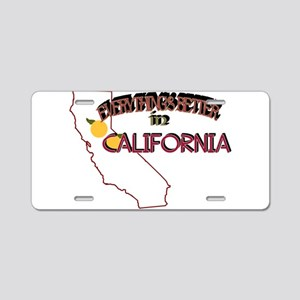 Better in California Aluminum License Plate