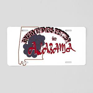 Better in Alabama Aluminum License Plate