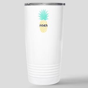 Chi Omega Pineapp 16 oz Stainless Steel Travel Mug