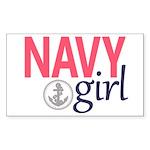 Navy Girl Sticker