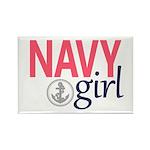 Navy Girl Magnets