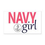 Navy Girl Rectangle Car Magnet