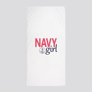 Navy Girl Beach Towel