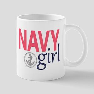 Navy Girl Mugs