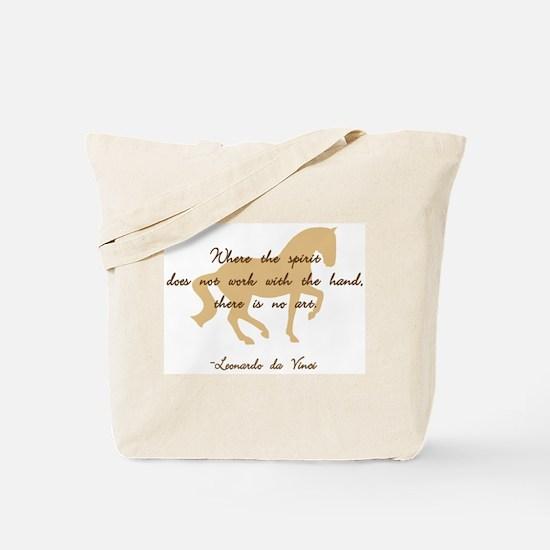 da Vinci spirit sayings - horse Tote Bag