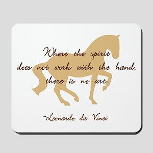 da Vinci spirit sayings - horse Mousepad