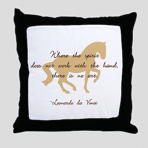 da Vinci spirit sayings - horse Throw Pillow