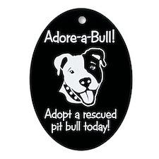 Adore-A-Bull 2! Oval Ornament